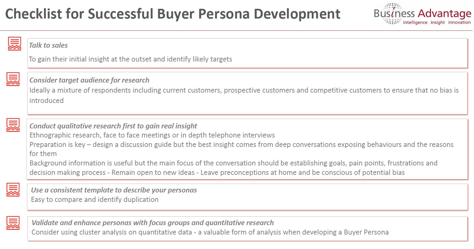 Buyer Persona Checklist Archives - Business Advantage's Blog