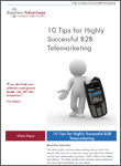 10 tips for Highly Successful B2B Telemarketing free white paper download
